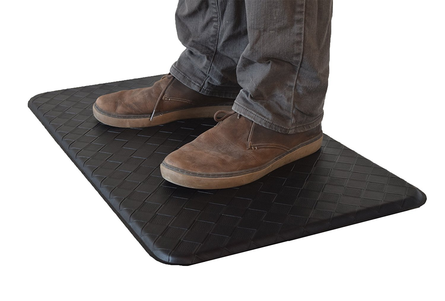 AnthroDesk standing desk anti-fatigue comfort floor mat (Black 18'' x 30'') by AnthroDesk