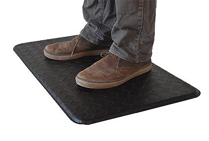 AnthroDesk Standing Desk Anti Fatigue Comfort Floor Mat (Black 18u0026quot; ...