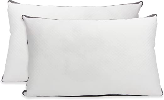 Set of 2 Cheer Collection Hypoallergenic Luxurious Gel Fiber Filled Pillow