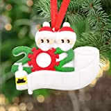 2020 Survived Family Ornament Xmas Tree Ornaments, Survivor Family with Face Masks Hanging Ornaments for Christmas Tree Home