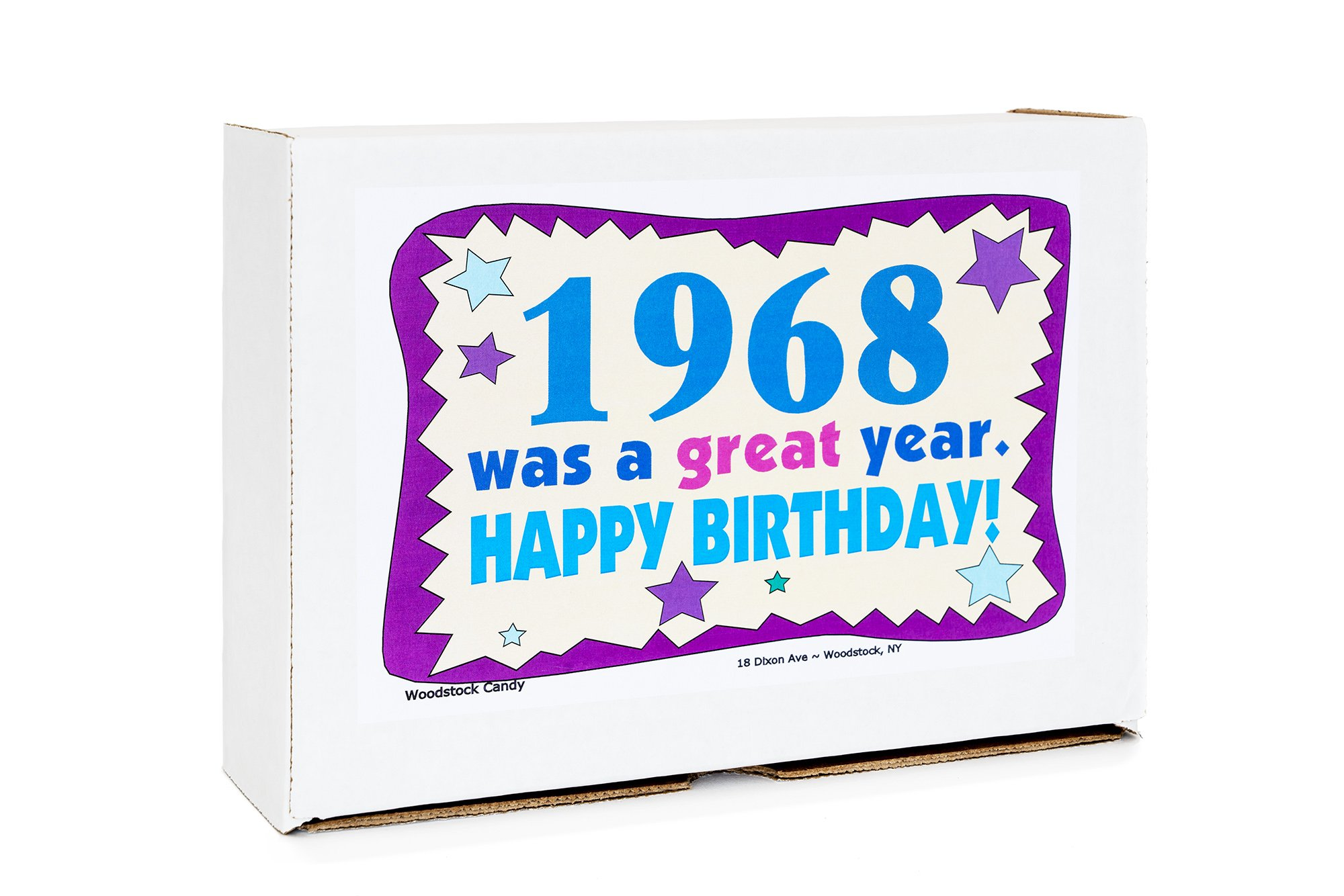 Woodstock Candy 1968 50th Birthday Gift Box Nostalgic Retro Mix From Childhood For 50 Year Old Man Or Woman Born Jr Chocolate Gifts