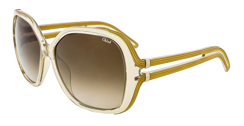1fbd6d0c4e33 Amazon.com  Chloe Womens Oversized UV Protection Square Sunglasses Beige  O S  Shoes