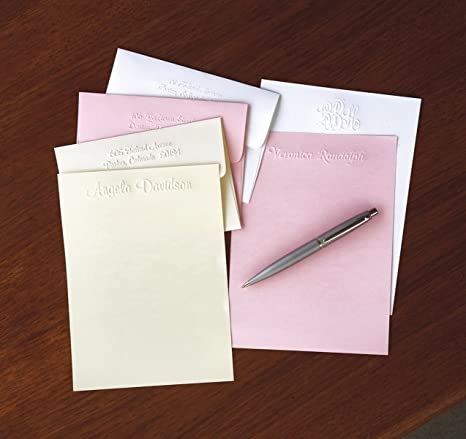 image about Embossed Stationery identify : Embossed Pastel Stationery Sheets and Envelopes