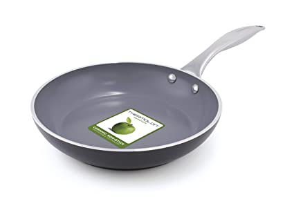 GreenPan Venice - Sartén (24 cm, aluminio), color gris