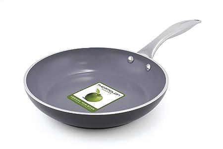 GreenPan Venice - Sartén de aluminio anodizado para inducción (1 unidad, 20 cm), color gris: Amazon.es: Hogar