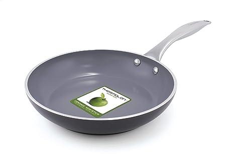 GreenPan Venice CW0004921 Sartén de Aluminio Anodizado para Inducción, Color Gris