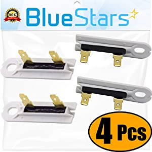 3392519 Dryer Thermal Fuse Replacement part by Blue Stars - Exact Fit for Whirlpool & Kenmore Dryers - Replaces 3388651, 694511, 80005, WP3392519VP - PACK OF 4