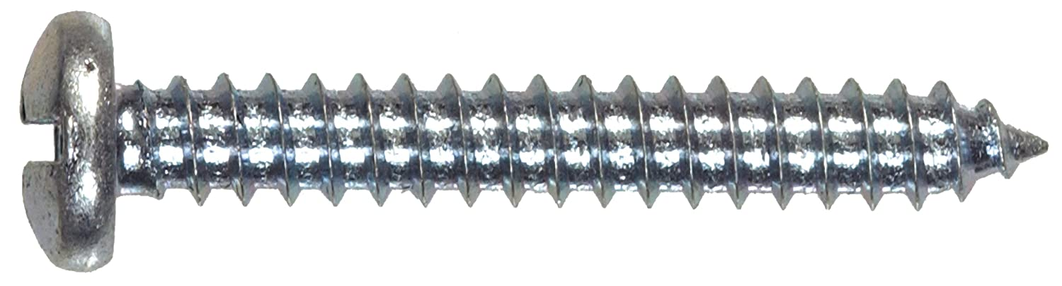 Pan Head Slotted Sheet Metal Screw The Hillman Group The Hillman Group 1353 10 x 3//4 In Zinc 52-Pack