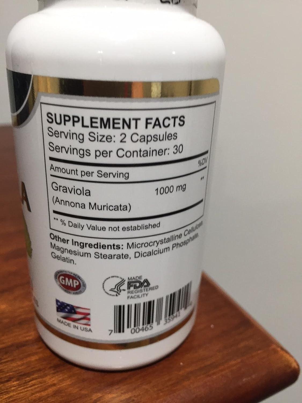 ... fruto de graviola/Guanabana) tiene propiedades antibacterianas y antiparasitarias. Actúa Como astringente, Febrífugo, sedativo,: Health & Personal Care
