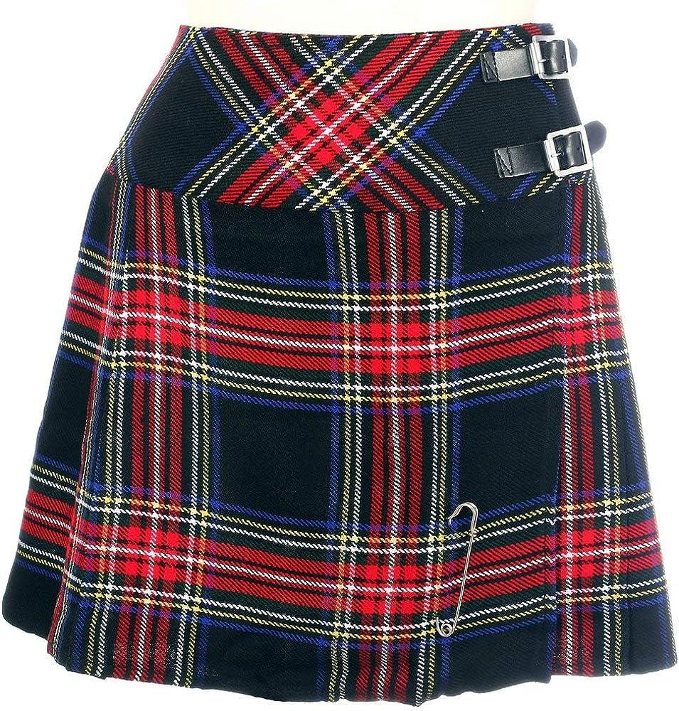 The Scotland Kilt Company Nuevo Mujer en Negro Stewart de Cuadros ...