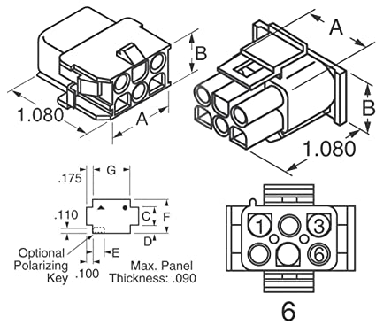 Wiring Diagram For 6 Pin Connector