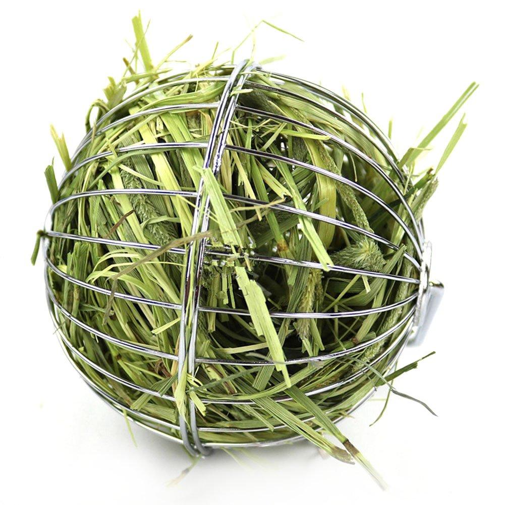 Su-luoyu bola de heno cadena pelota dispensador comida acero inoxidable juguete para hámster conejo: Amazon.es: Productos para mascotas