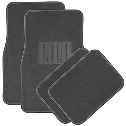 Amazon Com Car Floor Mats For Auto 4pc Carpet Semi Custom Fit Heavy