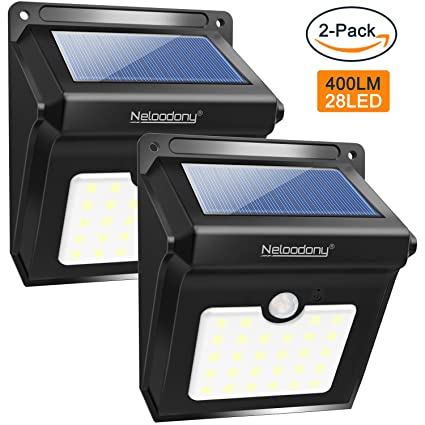 Motion Sensor Solar Lights Outdoor Amazon neloodony motion sensor solar lights outdoor super neloodony motion sensor solar lights outdoor super bright 28 led wireless waterproof solar wall outside workwithnaturefo