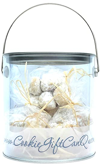 COOKIE GIFT CAN QUEEN DELICIOUS TREATS MEXICAN WEDDING CAKES WITH WALNUTS CANIKAN