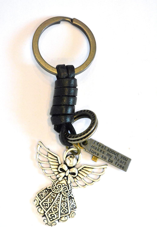 Sucolin Porte-cl/és Ange en M/étal Vintage Porte Cle Fantaisie Cadeau pour Enfant Homme et Femme