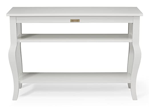 Amazoncom Kate And Laurel Lillian Wood Console Table With Display - How to build a console table