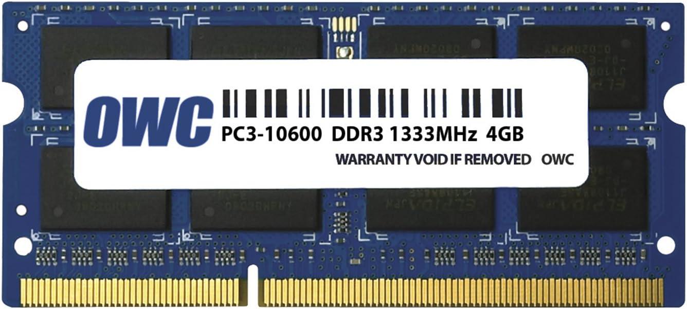 OWC 4.0GB 1333MHz 204-Pin DDR3 SO-DIMM PC3-10600 CL9 Memory Upgrade Module, (OWC1333DDR3S4GB)