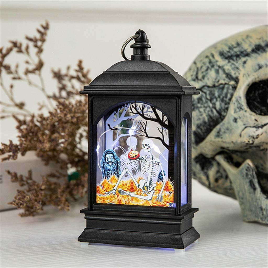 CapsA Halloween Pumpkin Light Lamp Night Light Halloween Ornaments Pendant LED Lamp Brightness Gift for Kids and Halloween Equipment for Holiday Party Atmosphere