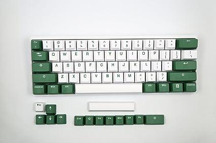 Amazon com: Vortexgear Bi Color White Green Doubleshot PBT Keycaps