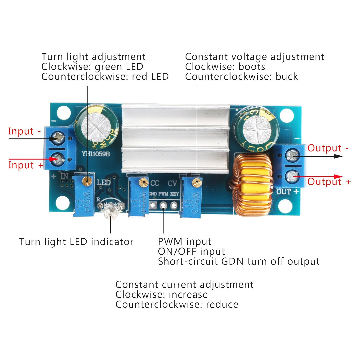 Drok Dc Dc45 30v To 08 Constant Voltage And Current Buck Boost With Output 12v Electronics Forum Circuits Projects Converter 5v 5a Step Down Regulator Module Board Led Driver Power Transformer