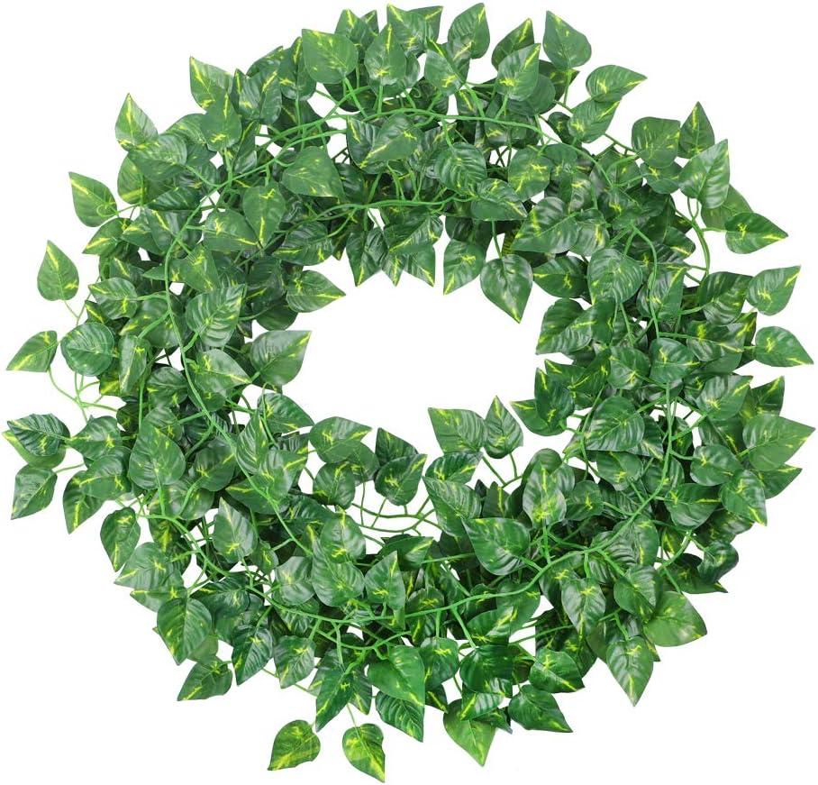 Artificial Ivy Fake Greenery Vine Leaves for Home Wedding Garden Swing Frame Decoration CEWOR 36pcs 236 Feet