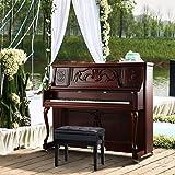 Yaheetech Taburete de Piano Banco Silla con Espacio de Almacenamiento Altura Ajustable