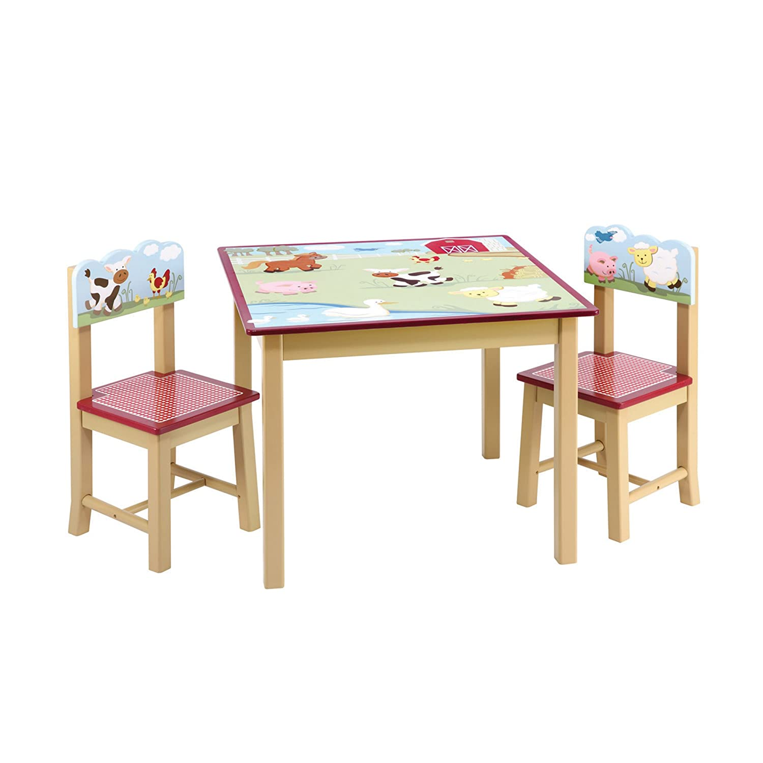 Amazon Guidecraft Wood Hand painted Farm Friends Table