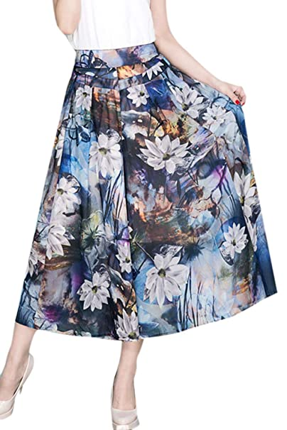 Battercake Falda Pantalon Mujer Elegantes Verano Cintura Alta ...