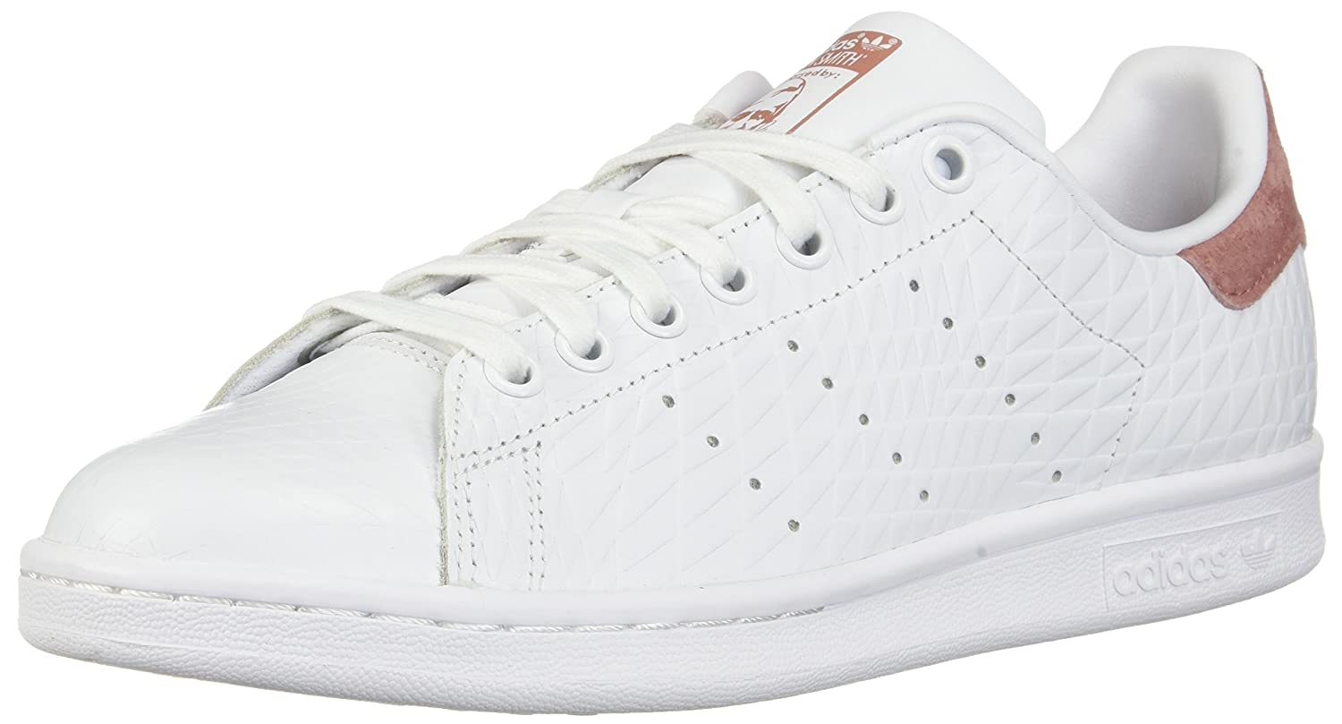 adidas Originals Women's Stan Smith W Fashion Sneaker B01MQW28O8 7.5 B(M) US|White/White/Raw Pink