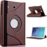 Dorado 360 Degree Rotating Leather Cover for 9.6-inch Samsung Galaxy Tab E (Brown)