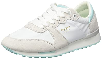 newest 2089e b1528 Amazon.com | Pepe Jeans Women's Bimba Soft Trainers, Weiß ...