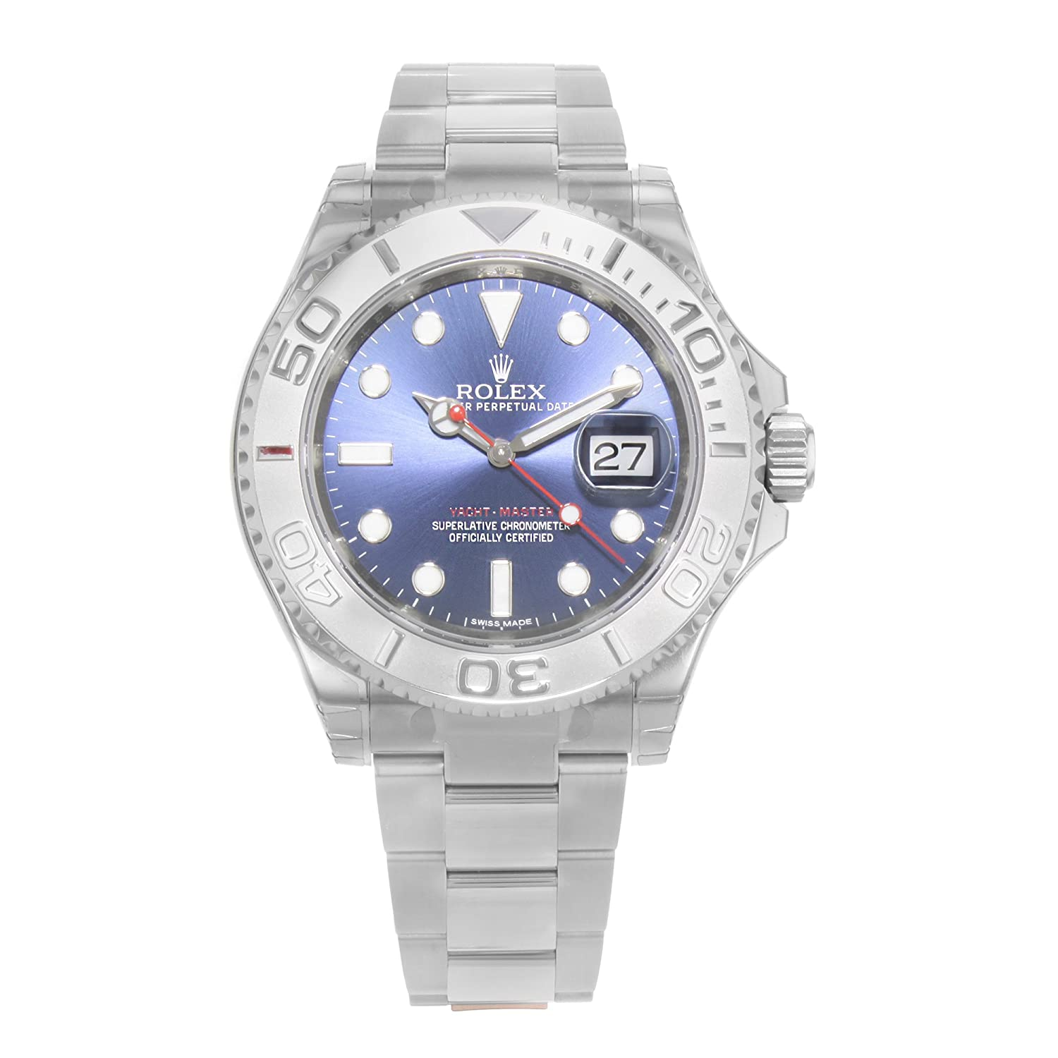 Amazon Com New Rolex Yacht Master Blue Sunray Dial 904l Stainless