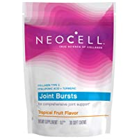 NeoCell Joint Bursts with Type 2 Hydrolyzed Collagen for Joint Support, Gluten-Free & Non-GMO, Tropical Fruit Flavor - 30 Chews (Package May Vary)