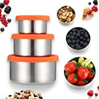 Set of 3 Janolia Stainless Steel Lunch Boxes with Lids Deals