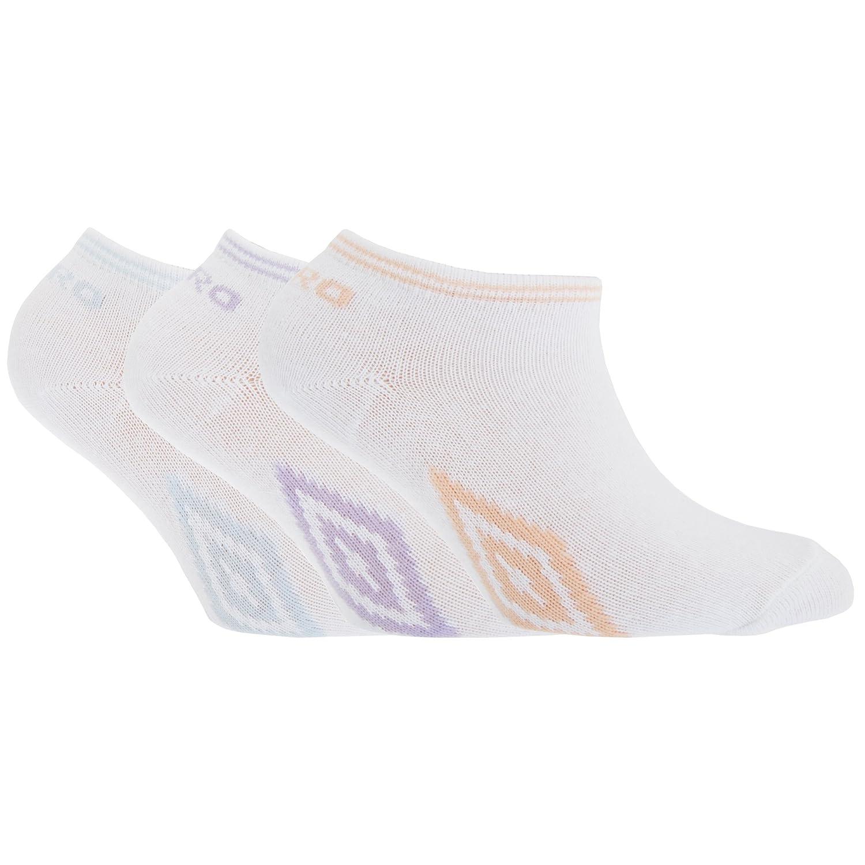 Umbro - Calcetines de deporte / tobilleros para niñas (Pack de 3 pares) (23-26 EU/Blanco/Coral/Morado/Cielo): Amazon.es: Ropa y accesorios