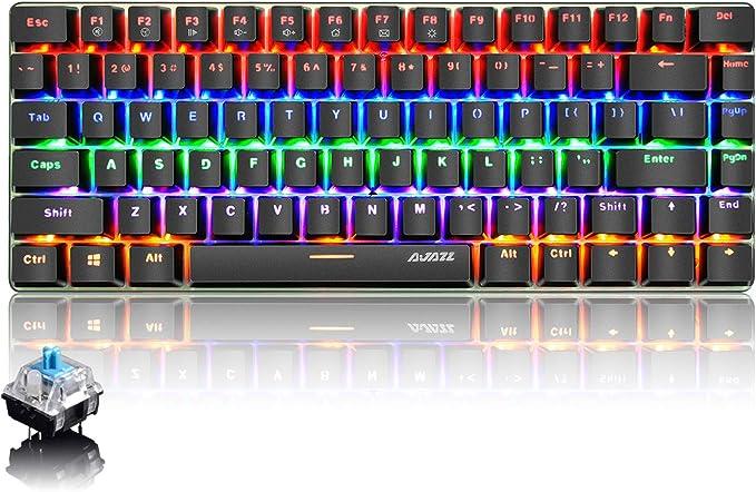 PC Teclado Mecánico para Juegos, LED Mezclado con Retroiluminación ...