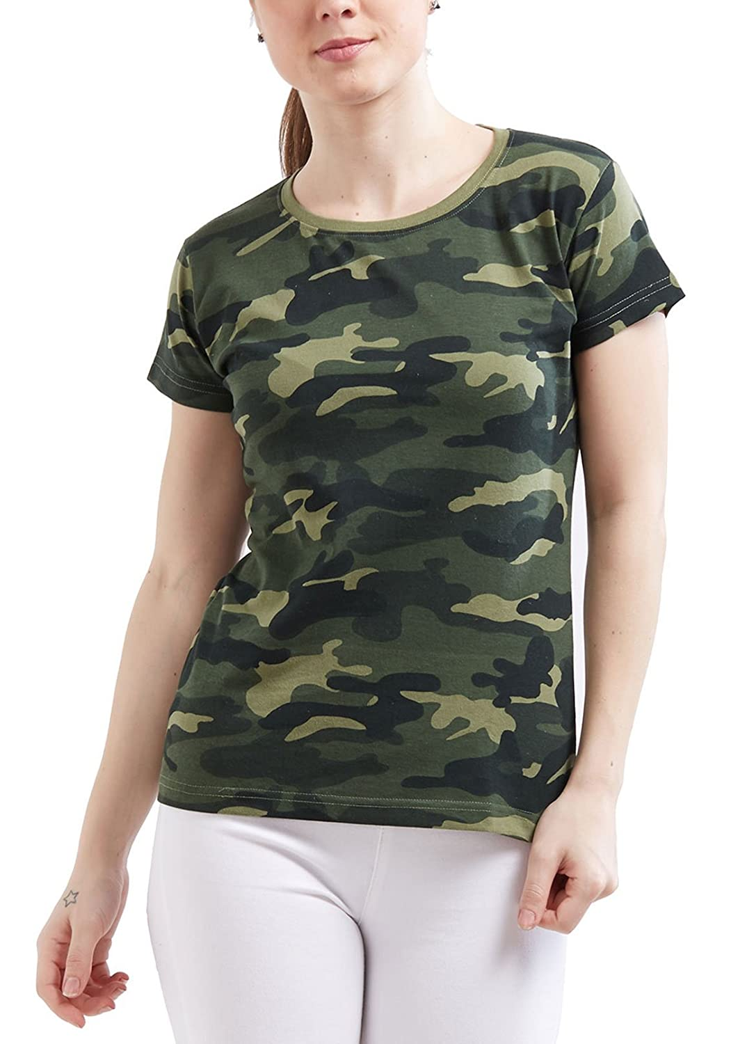 Camouflage Army Military Short Sleeve Top Tees T Shirt
