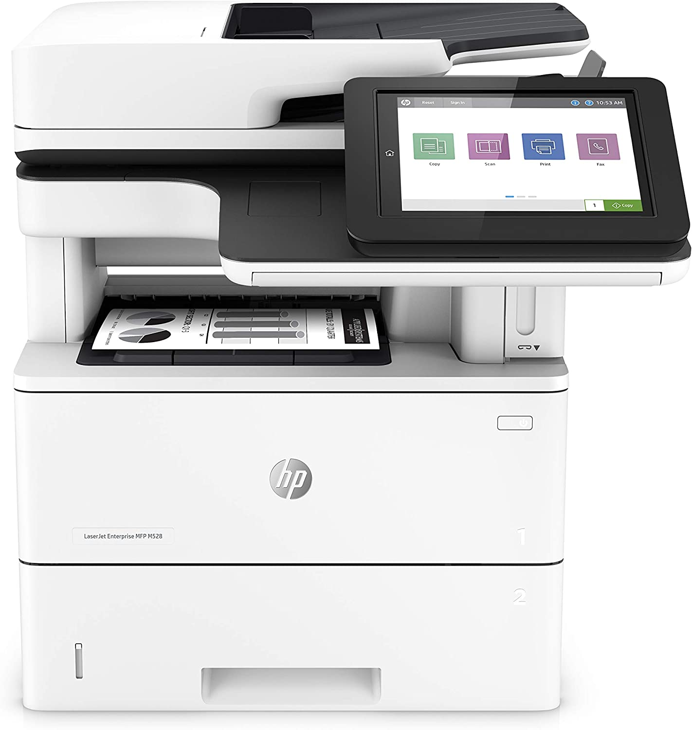 HP LaserJet Enterprise Multifunction Printer M528f (1PV65A),White