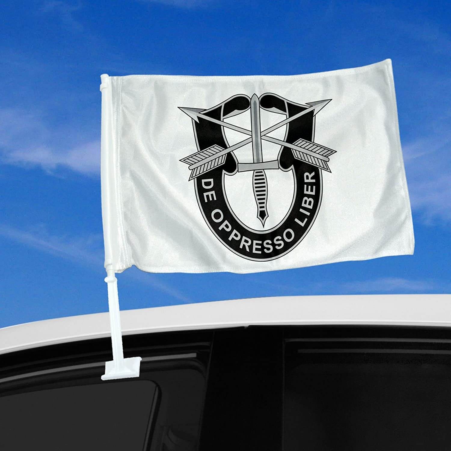 Double Sided Car Flag - 12 x 15 U.S. Army Special Forces - Design Options - Durable and long lasting ExpressItBest