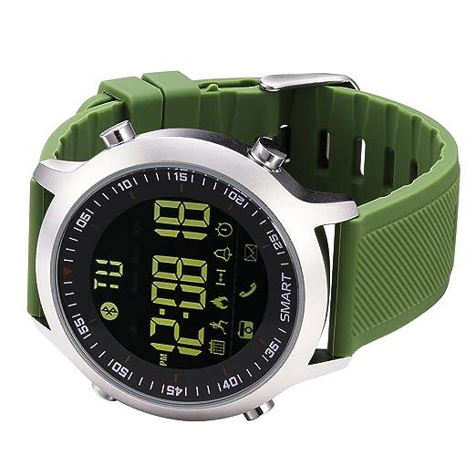 kxcd Bluetooth Smart Reloj EX18 Bluetooth 4.0 Smart Reloj 5 ATM Resistente al Agua Compatible con