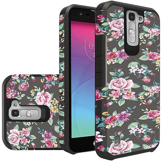 online retailer 580b3 dd668 LG Phoenix 2 Phone Case, LG K7 Case, LG Treasure LTE Case, LG Tribute 5  Case Hard & Soft Sturdy Durable Hybrid Dual Layer Protective [ Anti Scratch  ] ...
