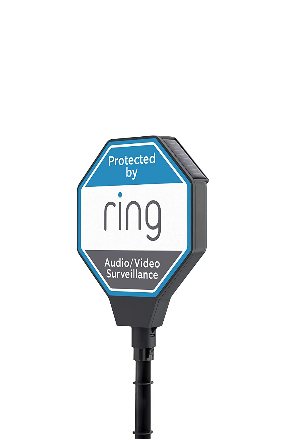 Ring Yard Solar Security Sign, blue