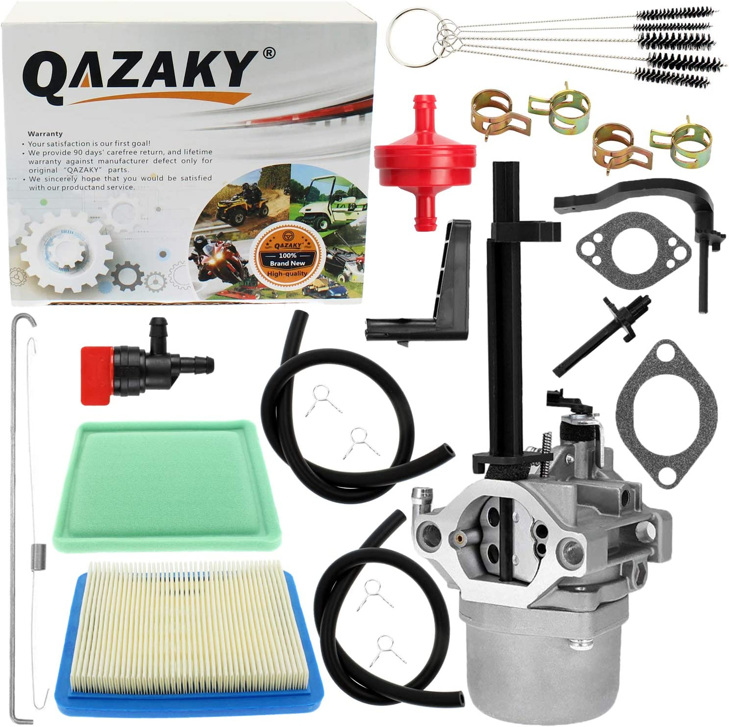 QAZAKY Carburetor Air Filter Replacement for Briggs Stratton 342cc 10HP Generator 030235 Coleman Powermate 5000 5550 5600 6200 6250 8550 8600 GenPower 305 Troy Bilt 1450 Series Engine Craftsman Nikki