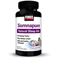 Somnapure Natural Sleep Aid with Melatonin, Valerian, & Chamomile, Non-Habit-Forming...