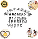 Letters Numbers Cutters 35 Pieces Mini Vegetable Fruit Cookie Cutters Stainless Steel Moulds Sets by Yicol,DIY Fun.