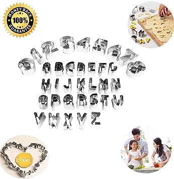 Cortadores con forma de números (35 unidades), diseño de frutas y verduras, moldes de acero inoxidable para bricolaje, de Yicol: Amazon.es: Hogar