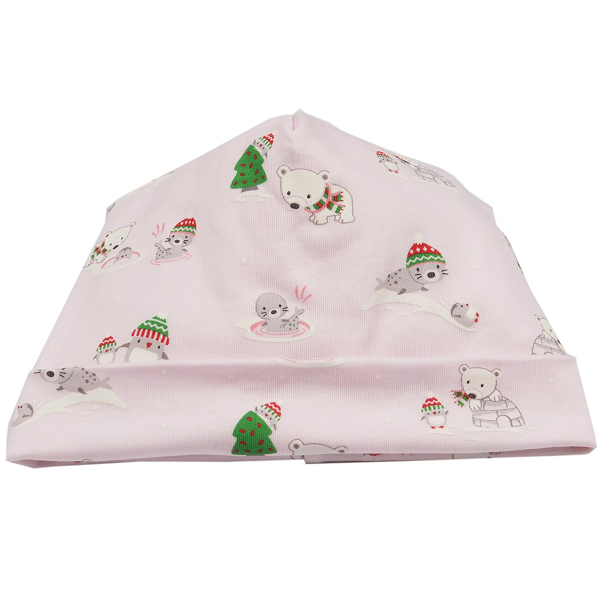 Kissy Kissy Baby Girls Arctic Adventures Print Hat Pink