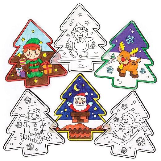 Baker Ross Adornos con Motivos navideños para Colorear y Colocar en ...