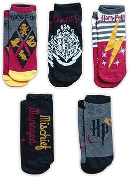 HARRY POTTER Color Adult Ankle Socks - 5-Pack: Amazon.es: Juguetes ...